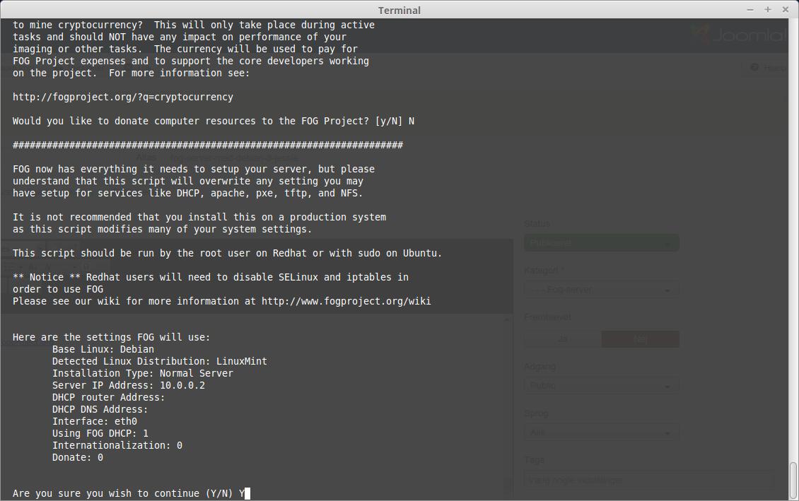 Fog-server med Debian 8